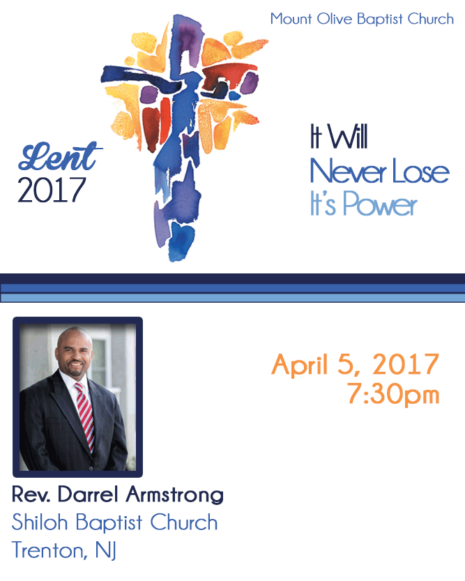 2017 Lent Revival - Rev. Darrel Armstrong