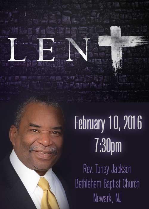 MOBC 2016 Lenten Service_Rev.Toney Jackson