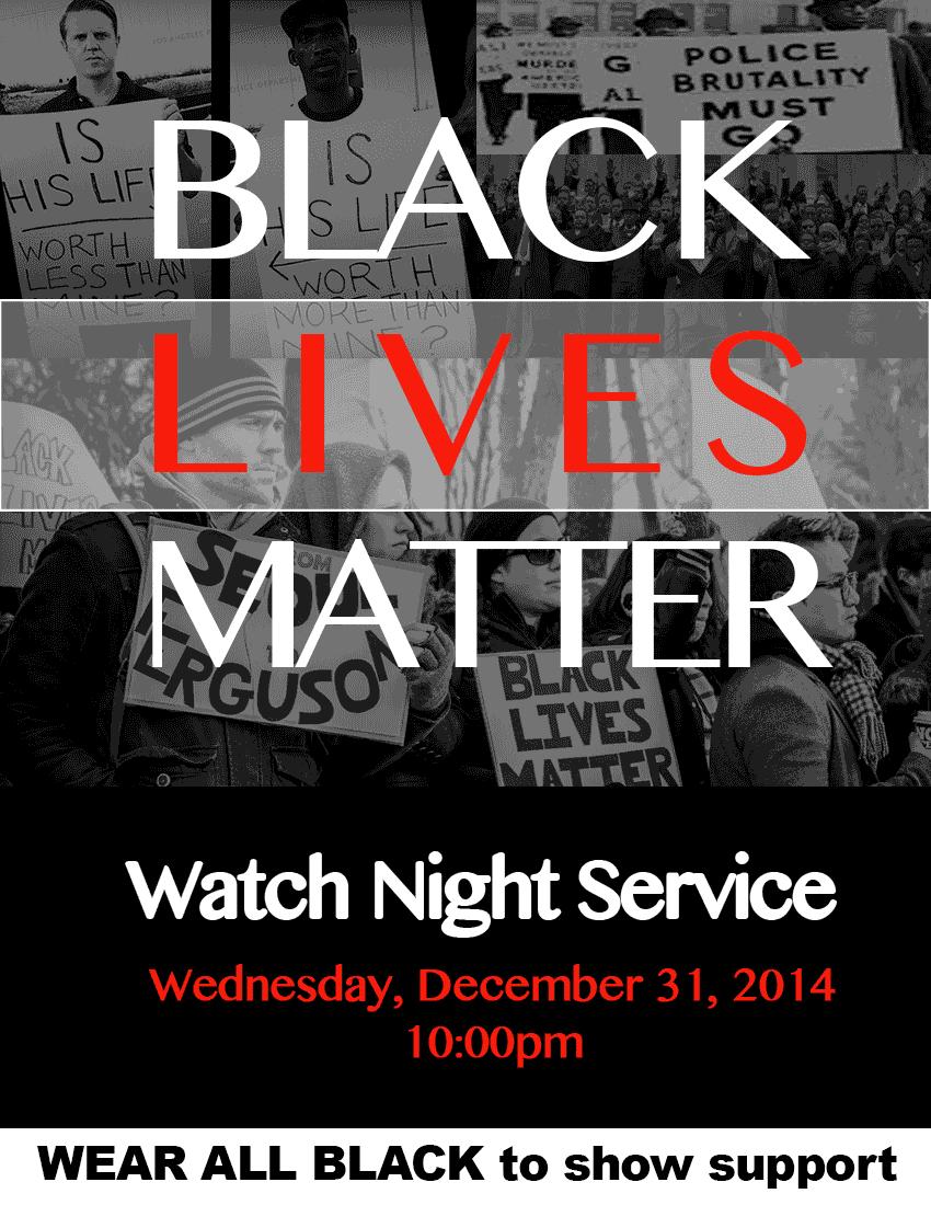 MOBC Watch Night Service | Black Lives Matter